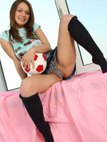 nubile aliana loves soccer ball but youre gonna love her more when she starts showing her pussy